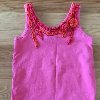 アナスイミニ(ANNA SUI mini)のアナスイミニ タンクトップ オレンジ(Tシャツ/カットソー)