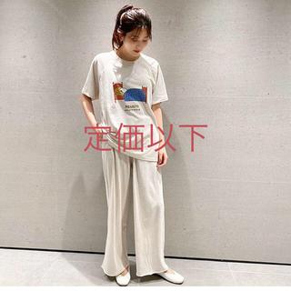 gelato pique - 【PEANUTS】ワンポイントTシャツ&カットオフロングパンツ