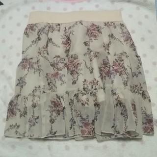 rps - 花柄のミニスカート M 中古品です。