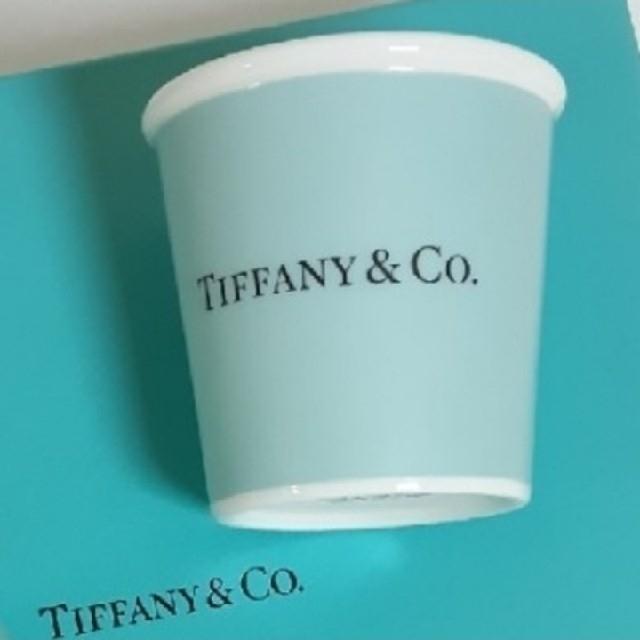 Tiffany & Co.(ティファニー)のティファニー エスプレッソ ペーパー カップ ボーンチャイナ (1個) インテリア/住まい/日用品のキッチン/食器(食器)の商品写真