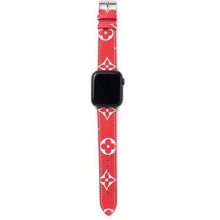 アップルウォッチ(Apple Watch)のApple Watchバンド 新品未使用アップルウォッ チダミエ柄 交換用ベルト(ラバーベルト)