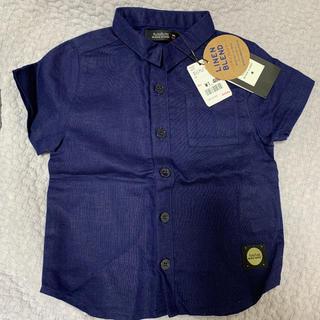 フタフタ(futafuta)のfutafuta BLACK CLOSET 半袖シャツ リネンシャツ 90サイズ(ブラウス)