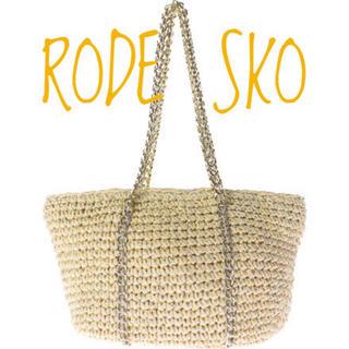 URBAN RESEARCH - RODE SKO【美品】リネン チェーン 肩掛け トート かご バッグ