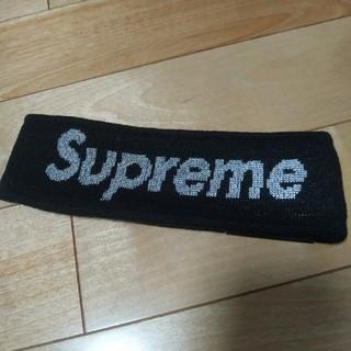 シュプリーム(Supreme)のsupreme ヘアバンド 黒 ブラック(ヘアバンド)