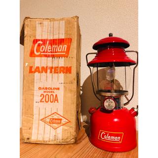 コールマン(Coleman)の【美品・箱付】コールマン ランタン 200A 1961年1月製造 黄デカール(ライト/ランタン)