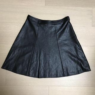 Ralph Lauren - ブラックレザースカート