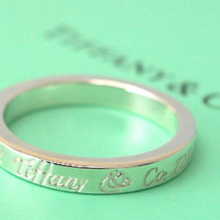 Tiffany & Co. - 18号 Tiffany&Co.ノーツナローリングシルバー925