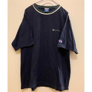 used 90'S USA製♡Champion 刺繍ロゴTシャツ
