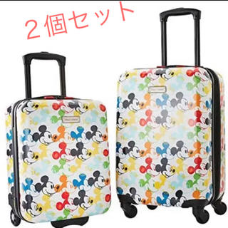 ディズニー(Disney)のディズニー キャリーケース ミッキー  2個セット(スーツケース/キャリーバッグ)
