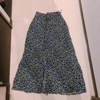 ZARA - zara 花柄スカート ザラ ロングスカート