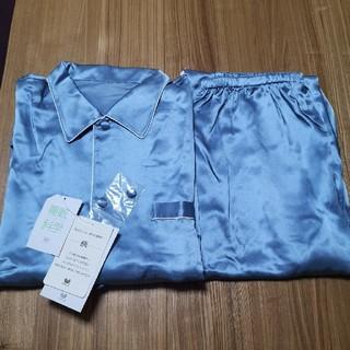 Wacoal - ワコール 睡眠科学 シルク 絹100% メンズ パジャマ 長袖 長ズボン L