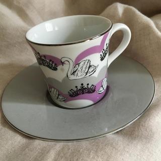 ザラホーム(ZARA HOME)のスワン柄 カップ&ソーサー(食器)