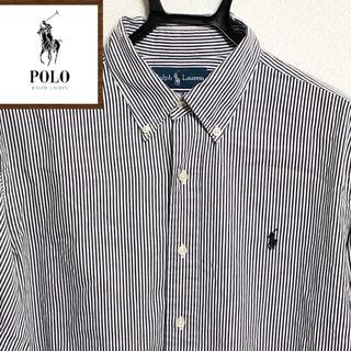 Ralph Lauren - 90s Ralph Lauren ★ ワンポイントロゴ刺繍ボタンダウンシャツa3