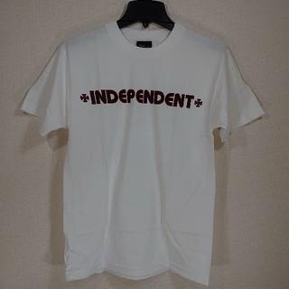 インディペンデント(INDEPENDENT)のINDEPENDENT インディペンデント/半袖Tシャツ/BAR CROSS/白(Tシャツ/カットソー(半袖/袖なし))