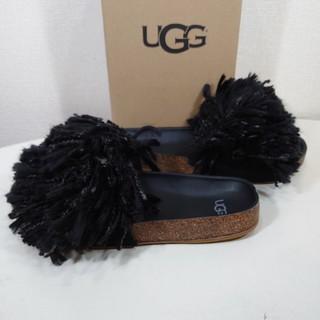 UGG - 【25cm】UGG アグ/フリンジサンダル/ミュール/CINDY/BLACK