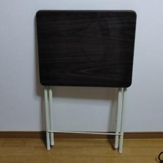 折り畳みデスク テーブル 茶色(折たたみテーブル)