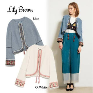 Lily Brown - 格安 正規品 リリーブラウン 刺繍ジャケット Lily Brown