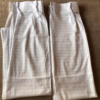 真っ白 レースカーテン 2枚セット(レースカーテン)