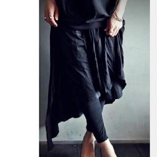 アンティカ(antiqua)の新品未使用 アンティカ ベルトパンツ付きスカート(ロングスカート)