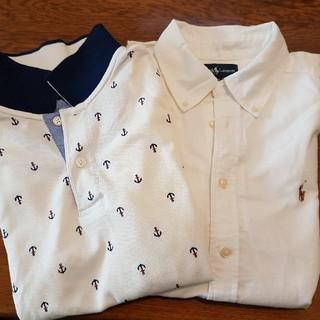 Ralph Lauren - 美品150★ラルフローレン白シャツとgooddayイカリのポロシャツ