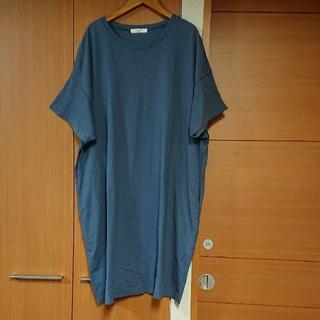 SM2 - SM2 blue ゆったりTシャツワンピース サマンサモスモス