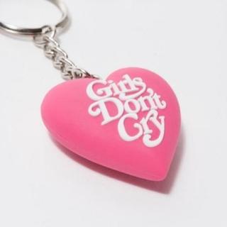 ジーディーシー(GDC)のGirls Don't Cry Heart Key Chain ピンク(キーホルダー)