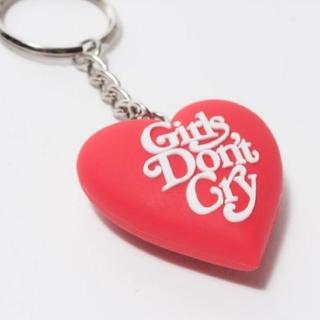 ジーディーシー(GDC)のGirls Don't Cry Heart Key Chain 赤(キーホルダー)