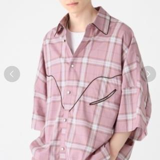 ハレ(HARE)のHARE BIG western shirt ピンク(シャツ)
