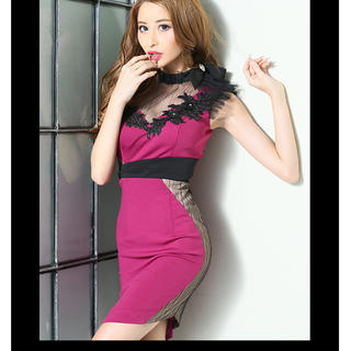 ROBE - robe de fleurs glossy キャバ ドレス タイト 美品
