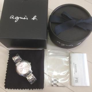 agnes b. - アニエスベー トリプルカレンダー ピンク 腕時計