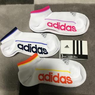 adidas - adidas☆ビッグロゴ スニーカーソックス//23〜25