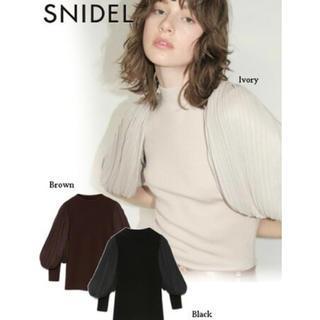 snidel - SNIDEL プリーツチュールスリーブニットプルオーバー