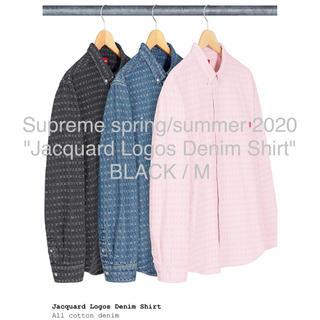 Supreme - Supreme Jacquard Logos Denim Shirt 黒 M