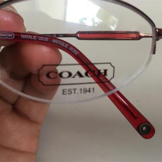 COACH - コーチ  未使用  メガネフレーム  赤