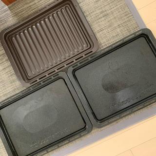 パナソニック(Panasonic)のPanasonic 角皿2枚・グリル皿1枚(電子レンジ)