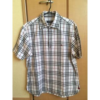 バーバリー(BURBERRY)のBURBERRY 白チェック メンズシャツ(シャツ)