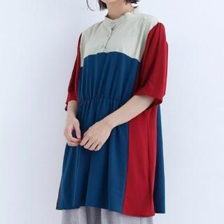 merlot - merlot メルローカットソーシャツ(トリコロール)