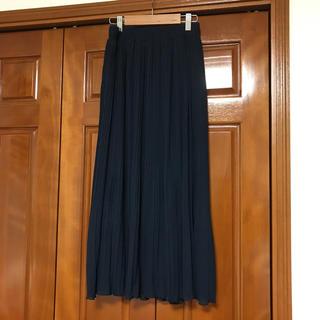 ネイビーのプリーツロングスカート☆アーバンリサーチ、PLST、アローズ好きにも