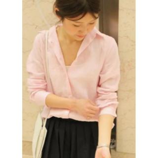 Spick and Span - スピックアンドスパン フレンチリネンシャツ カシュクールシャツ ピンク
