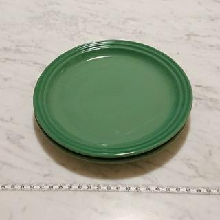 ルクルーゼ(LE CREUSET)のル・クルーゼ プレート2枚セット グリーン(フェンネル)(食器)