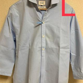 BEAMS - BEAMS シャツ 七分袖 水色 Lサイズ