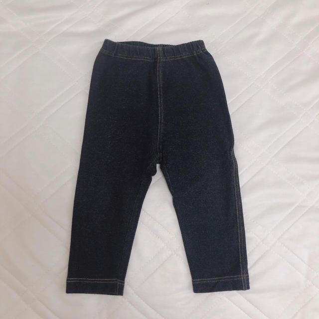 UNIQLO(ユニクロ)のユニクロレギンス 80センチ10分丈 3枚セット キッズ/ベビー/マタニティのベビー服(~85cm)(パンツ)の商品写真