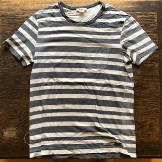 アクネ(ACNE)のXS-S,M 美品 アクネ ボーダーTシャツ 胸ポケット付き(Tシャツ/カットソー(半袖/袖なし))