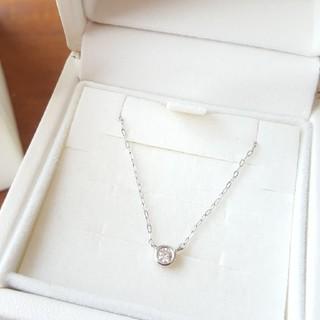 4℃ - 4℃ K18 WG ダイヤモンド ネックレス