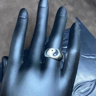 陰陽 オーバル シルバー925リング スターリング強運 風水 印台 指輪 ギフト(リング(指輪))