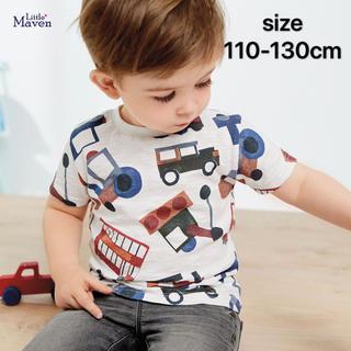 アメリカ子供服★ 半袖Tシャツキッズ ベビー 男の子 車プリント