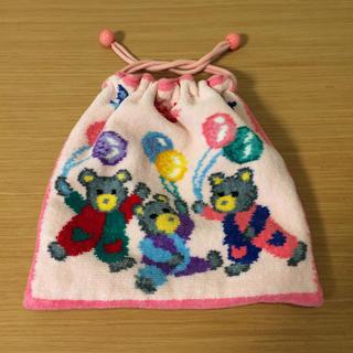 FEILER - フェイラー  巾着 ポーチ  くま 風船 ピンク