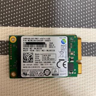 サムスン(SAMSUNG)のSamsung SSD PM871 mSATA 512GB(PCパーツ)