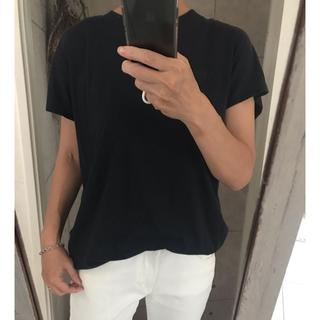 ドゥロワー(Drawer)のドゥロワー バックリボン ロングカットソー 黒(Tシャツ(半袖/袖なし))