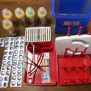 ピジョン(Pigeon)のミルトン消毒容器 哺乳瓶等 お買い得まとめセット(哺乳ビン用消毒/衛生ケース)